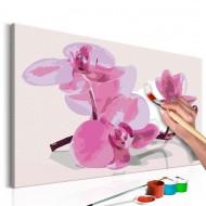 Tableau à peindre par soimême  Fleurs dorchidée