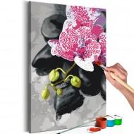 Tableau à peindre par soimême  Orchidée rose