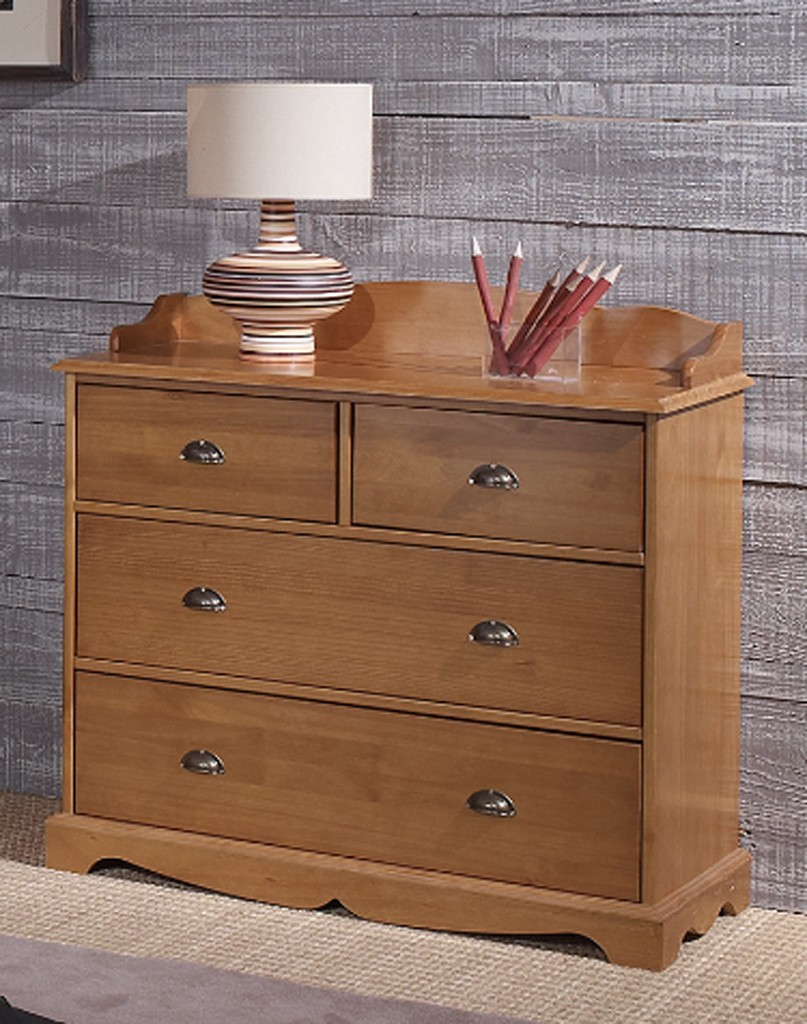 chambres completes  ensemble lit armoire commode style anglais pin miel