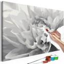 Tableau peindre par soi m me fleur en noir et blanc beaux meubles pas chers - Meubles a peindre soi meme ...