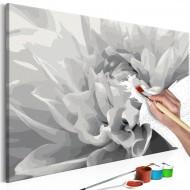 Tableau à peindre par soimême  Fleur en noir et blanc