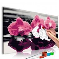 Tableau à peindre par soimême  Trois orchidées