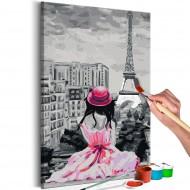 Tableau à peindre par soimême  Paris  vue sur la Tour Eiffel