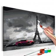 Tableau à peindre par soimême  Paris (Limousine rouge)