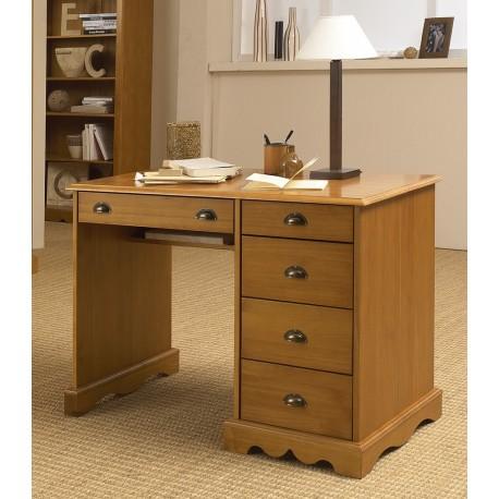 Bureau junior pin miel de style anglais beaux meubles Meuble tv style anglais