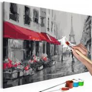 Tableau à peindre par soimême  Paris sous la pluie
