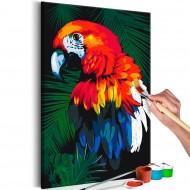 Tableau à peindre par soimême  Perroquets