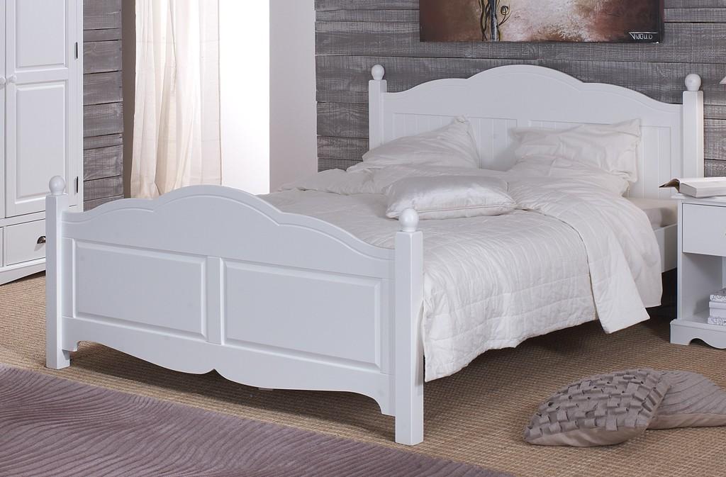 Lit Blanc 2 Places 160 X 200 De Style Anglais Beaux Meubles Pas Chers