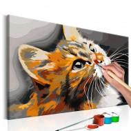 Tableau à peindre par soimême  Chat roux