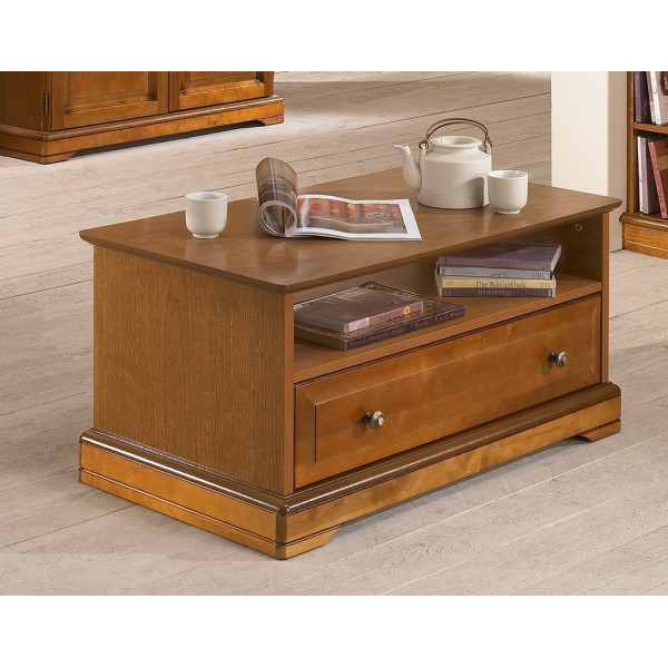 Table basse merisier louis philippe beaux meubles pas chers - Table basse louis philippe ...