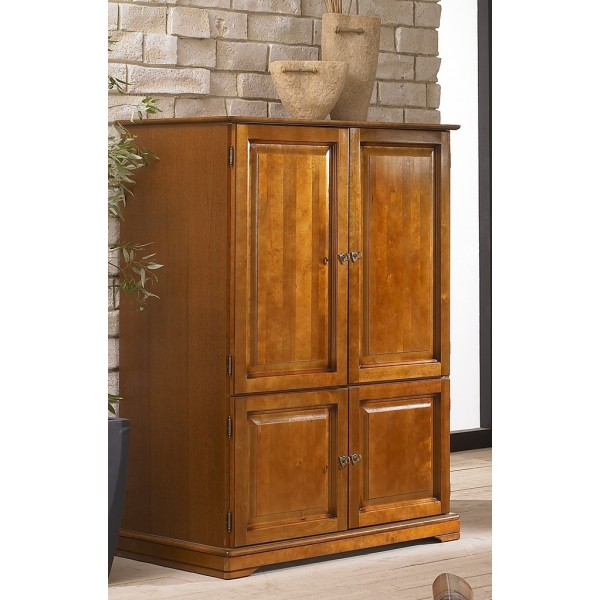 armoire informatique louis philippe ferm e beaux meubles. Black Bedroom Furniture Sets. Home Design Ideas