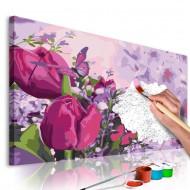 Tableau à peindre par soimême  Tulipes (pré)