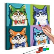 Tableau à peindre par soimême  Chats avec lunettes