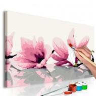 Tableau à peindre par soimême  Magnolia (fond blanc)