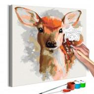Tableau à peindre par soimême  Faon aimable