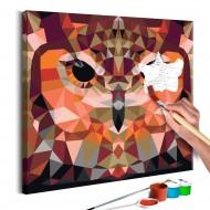 Tableau à peindre par soimême  Hibou géométrique