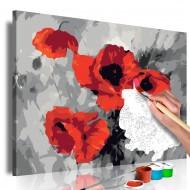 Tableau à peindre par soimême  Bouquet de coquelicots