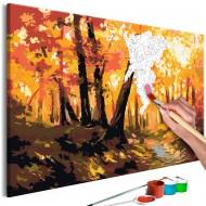 Tableau à peindre par soimême  Forest Track