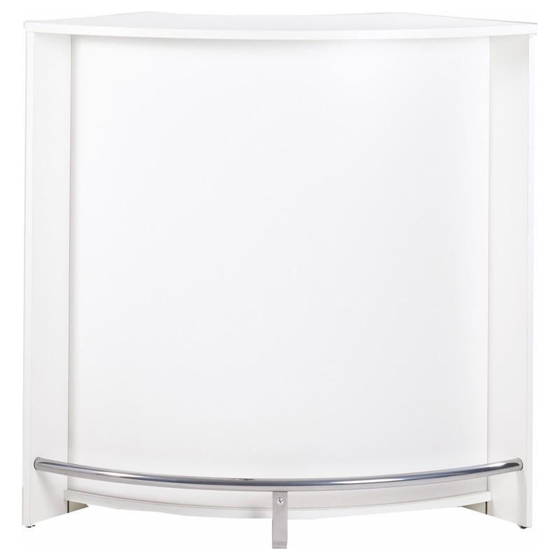 Meuble bar comptoir de cuisine accueil coloris blanc - Meuble bar pas cher ...