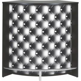 Meuble Comptoir Bar Acceuil Noir 107 cm