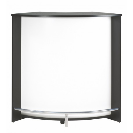 Meuble bar comptoir de cuisine meuble d 39 accueil noir for Bar meuble pas cher