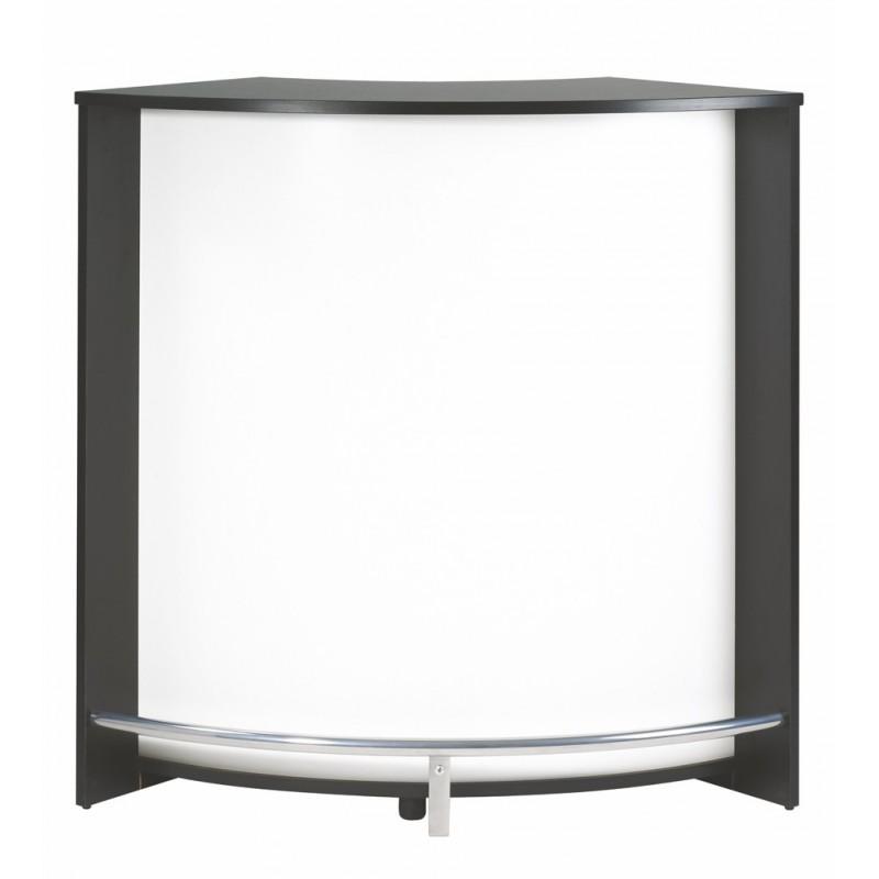 Meuble bar comptoir de cuisine meuble d 39 accueil noir for Meuble comptoir
