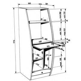 Armoire Informatique Galbée Larg 60 cm