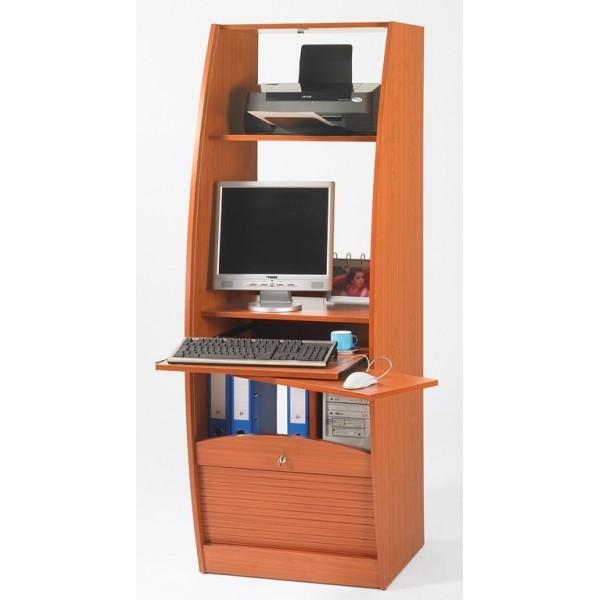 Armoire informatique galbee largeur 60 cm beaux meubles - Bureau largeur 50 cm ...