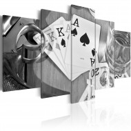 Tableau  Poker night  black and white