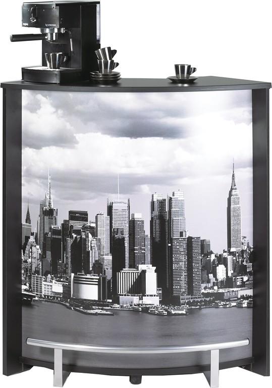 Meuble Comptoir Bar Noir Imprime 96 Cm Beaux Meubles Pas Chers