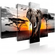 Tableau  Elephant at Sunset