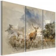 Tableau  Deer in the Field I
