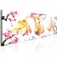 Tableau  Golden Flamingoes