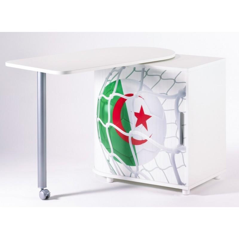 Bureau informatique blanc pivotant ballons foot beaux meubles pas chers - Bureau informatique blanc ...