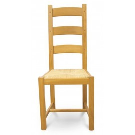 Chaises Chne Clair Assise Paille Massif