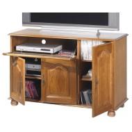 Meuble TV Hi-Fi grand écran chêne 3 portes 5612VAR