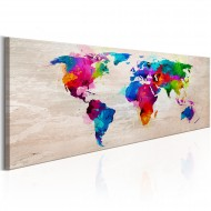 Tableau  World Map Finesse of Colours