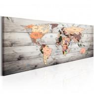 Tableau  World Maps Wooden Travels