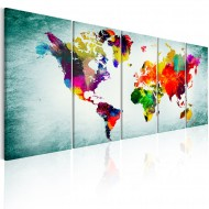 Tableau  World Map Green Vignette