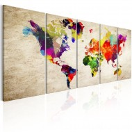 Tableau  World Map Painted World