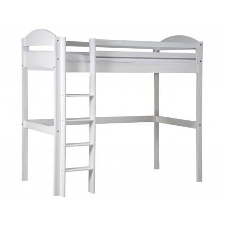 lit mezzanine 90 x 190 cm maximus lasur blanc. Black Bedroom Furniture Sets. Home Design Ideas