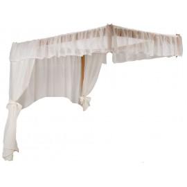 lit baldaquin 2 places veneza 140 x 190 cm pin miel. Black Bedroom Furniture Sets. Home Design Ideas