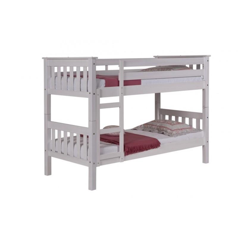 lit superpose barcelona 90 x 190 cm blanc. Black Bedroom Furniture Sets. Home Design Ideas