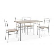 Ensemble Repas 1 Table + 4 Chaises DAILY
