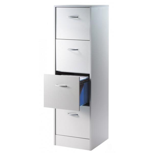 Meuble classeur 4 tiroirs pour dossiers suspendus beaux for Meuble 2 tiroirs pour dossiers suspendus