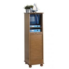 classeur rideau 150 cm ch ne rustique pieds boule beaux meubles pas chers. Black Bedroom Furniture Sets. Home Design Ideas