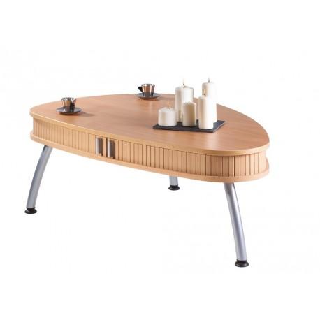 Table Basse Ovale Hêtre à Rideau 3 Pieds
