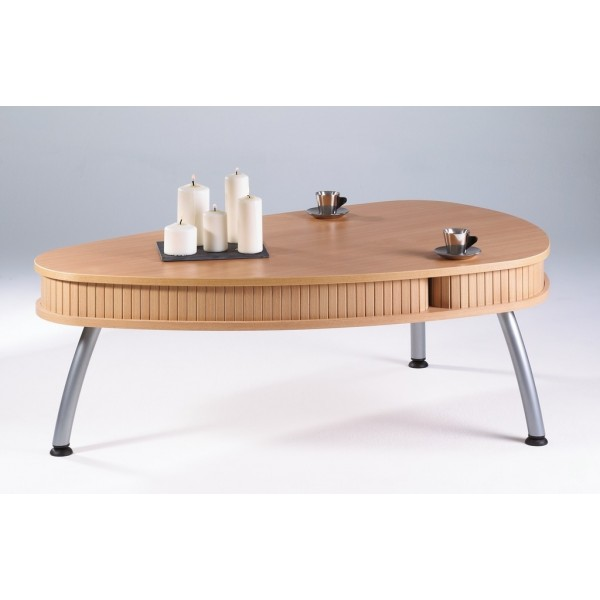 Table basse bar hetre for Table ovale pas cher