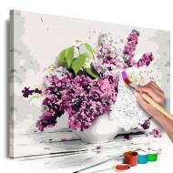 Tableau à peindre par soimême  Vase and Flowers