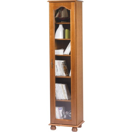 biblioth que 1 grande porte vitr e ch ne beaux meubles. Black Bedroom Furniture Sets. Home Design Ideas